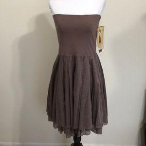 🆕Lapis Foldover Waist Cotton Dress/ Skirt- Lg
